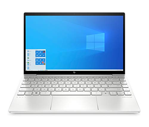 HP ENVY 13-ba1276ng (13,3 Zoll / FHD IPS Touch) Laptop (Intel Core i7-1165G7, 16 GB DDR4, 512 GB SSD, NVIDIA GeForce MX450 (2 GB GDDR5), Windows 10 Home) Silber
