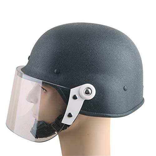 LBYSK Riot Männer Helm-Sicherheits-Ausrüstung Seismic Anti-Kollisionskopfverriegelung Buckle System-Leichtbau-Material No Stress Externe Force puffernder Wirkung