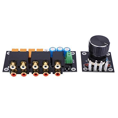 Weikeya Tablero de Entrada del Interruptor de Audio, Grueso selector Manual Divisor 105 x 43.5 mm de plástico, Metal AC12~15V