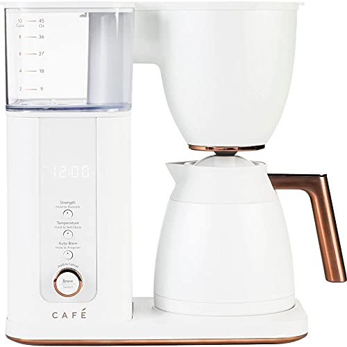 Café Specialty Drip Coffee Maker | 10-Cup Insulated Thermal Carafe | WiFi Enabled Voice-to-Brew Technology | Smart Home Kitchen Essientials | SCA Certified, Barista-Quality Brew | Matte White