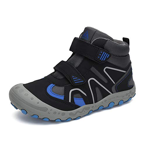 Mishansha Boys Hiking Boots Walking Running Girls Ankle Sneaker Trekking Lightweight Breathable Casual Kids Shoes Black Little Kid 2