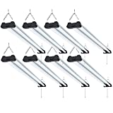 Sunco Lighting 8 Pack Industrial LED Shop Light, 4 FT, Linkable Integrated T8 Fixture, 40W=260W, 6000K Daylight Deluxe, 4000 LM, Surface + Suspension Mount, Pull Chain, Garage Light - Energy Star