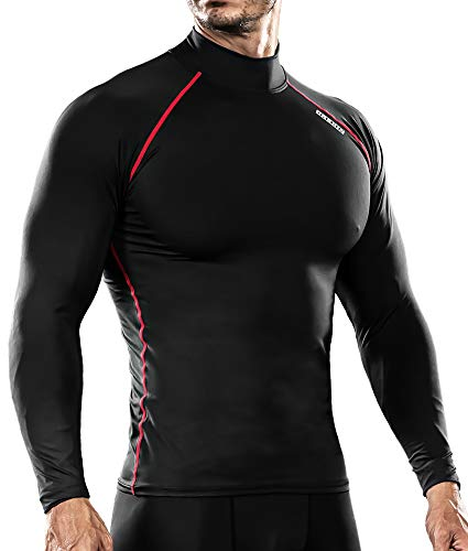 DRSKIN UV Sun Protection Long Sleeve Top Shirts Skins Tee Compression Base Layer (SBR06, M) Control Uv Long Sleeve Top