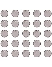 PandaHall 50 Pcs 304 Stainless Steel Charms Rectangle Blank Stamping Tag Pendants Sets for Bracelet Earring Pendant Charms Size 38x16x1mm
