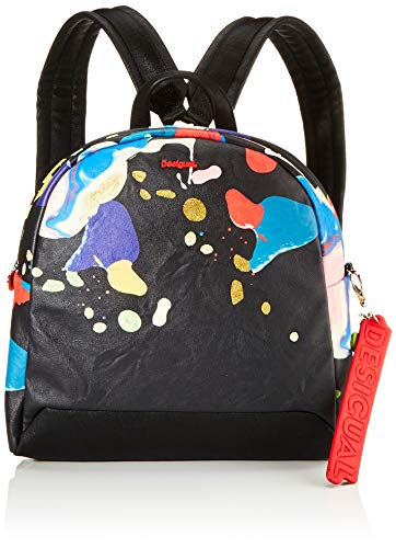 Desigual Backpack Arty Cooper Venice Mini, NEGRO