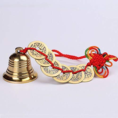 HAIHF handgemaakt windspel in Chinese stijl zes keizergeld bel, outdoor indoor voor tuin en huis, met magische oude Chinese munten