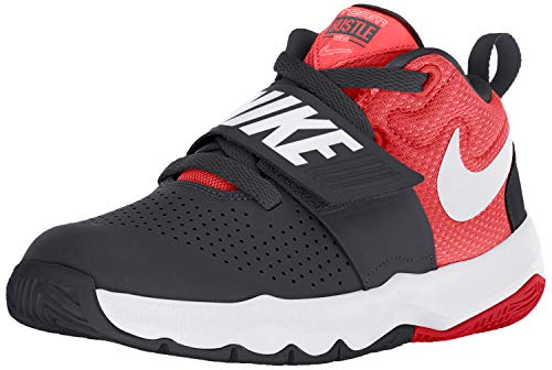 Nike Boys Team Hustle D 8 (PS) Pre-School Basketball Shoe Black/White/University Red Size 3 M US