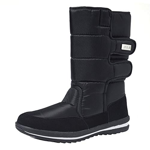 Shenji Zapatos de Mujer de Invierno - Botas de Nieve H1037 Negro 37