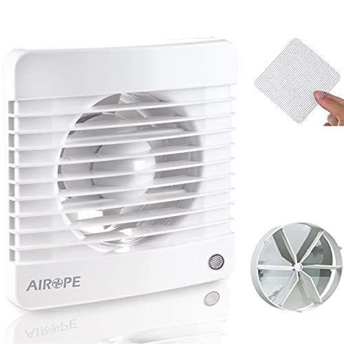 Airope,Ventilador extractor de baño aire 100 mm Silencioso con válvula Anti retorno + mosquitera integrada,7 W,Ideal para baño,cocina,inodoro,silencioso,alta calidad,bajo consumo Garantía 5 AÑOS