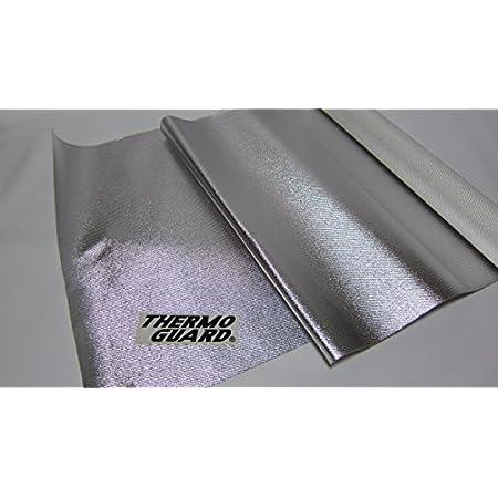 軽量耐熱断熱布 サーモガードⓇ 1m巾 x 1m長 x 0.65mm厚 裏面強力粘着付 大きい耐熱布 断熱布 耐熱シート 断熱シート バルクヘッド 車両製作 レストア 輻射熱反射 日本製