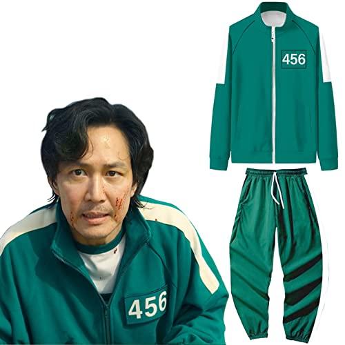Juego de calamares, tienda de juegos de calamares, todo tipo de disfraces de cosplay, cosplay para nios y nias, 456 Top + Pantalones, XL