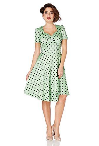 Voodoo Vixen Kleid HANNA DRESS 2498 Grün XL - 2
