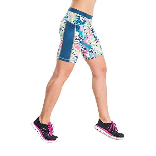 Nessi pour femme fitness legging de course oSKK respirant green flowers S - 22 Green Flowers