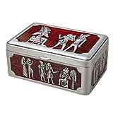 ZXCY Estilo Egipcio Caja De Joyería Caja De Tesoro Pequeña Caja De Almacenamiento De Baratijas Decorativas Grabadas para Pendientes Collares Y Anillos Cofre del Tesoro Vintage
