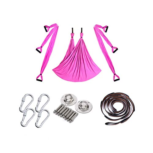 Review Aerial Yoga Swing Set - Yoga Hammock/Trapeze/Sling Kit - Antigravity Ceiling Hanging Yoga Sli...