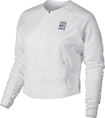 Nike Womens Mesh Inset Tennis Athletic Jacket White L