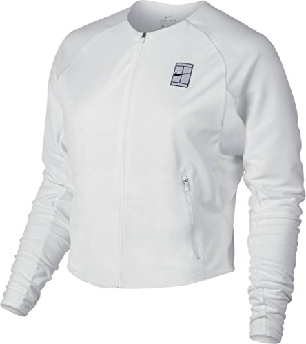 Nike Damen Court Jacket Women Trainingsanzüge, weiß, L