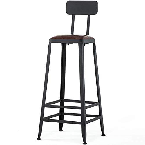 LPXPLP Muebles de Interior Taburetes de Bar Respaldo de Estilo Vintage Reposapiés Desayuno Mesa de Comedor Silla Mostrador Sillas Altas
