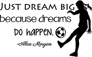 Alex Morgan Soccer Quote | Girl's Vinyl Wall Decal/Decor - USA World Cup Decals and Decoration for Bedroom - 20