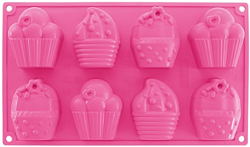 Dr.Oetker 1595 Moule en Silicone Rose Motifs Cupcakes, 34,5 x 18,5 x 4,9 cm