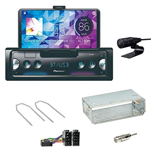 Pioneer SPH-10BT Bluetooth Autoradio USB AUX MP3 FLAC AAC WAV Einbauset für Peugeot 206 206 CC