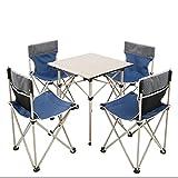 ZHBH Juego de sillas de Mesa Plegable para jardín al Aire Libre para Acampar, Senderismo, Muebles de Comedor, Marco de...