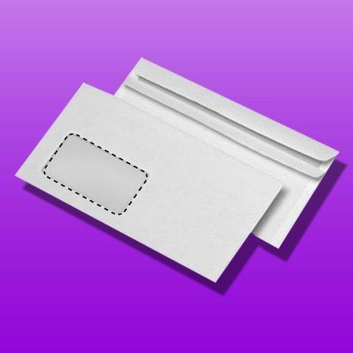 1000 enveloppen vorm lengte met zelfklevend venster