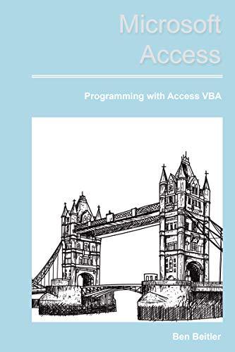Microsoft Access: VBA Programming (English Edition)