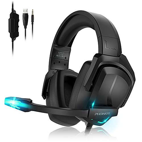 YOTMS Gaming Headset para PS4, PS5, PC, Xbox One, H6, 7.1 con...