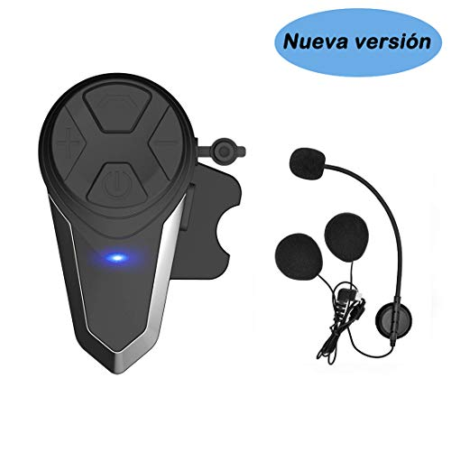 KOEITT BT-S3 Intercomunicador Casco Moto Auriculares Intercomunicador...