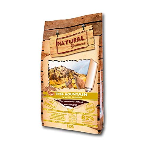 Natural Greatness Pienso seco para Gatos Receta Top Mountain - Ultra Premium - Cat & Kiiten - Todas Las Razas - 600 g