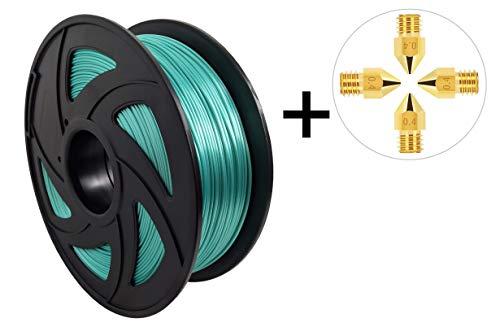 ML 3D-Drucker Zubehör. Qualitativ hochwertiges PLA Filament, 1kg, seiden Grün/silk green, 1,75mm Durchmesser, strukturiert aufgewickelt. Für perfekte Druckergebnisse.