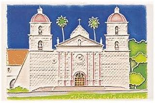 Amalfi Hand Painted Santa Barbara Tile - Handmade in