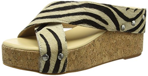 Tantra Leather Espadrille Wedge Sandals Animal Print - Sandalias para