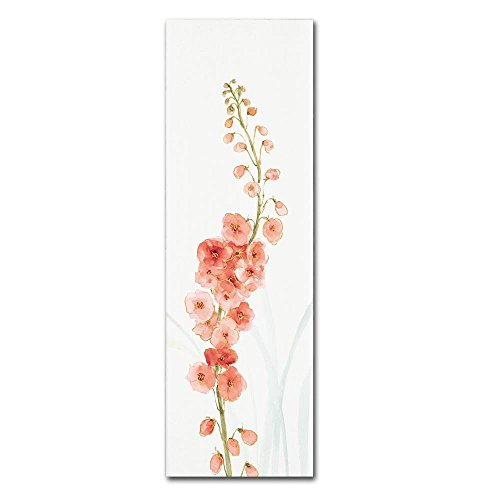 Rainbow Seeds Flowers VII Coral by Lisa Audit, 8x24-Inch Canvas Wall Art