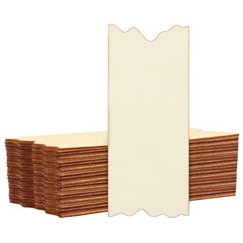 BELLE VOUS Planche Bois Brut (Lot de 24) - Panneau Bois en Contreplaqué avec Bords Dentelés pour Artisanat, Pyrogravure, Décoration, Mariage, Peinture et Enseignes