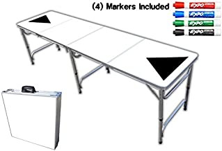 8-Foot Professional Beer Pong Table - Dry Erase Graphic w/Markers