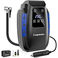 Coquimbo 12V DC Portable Air Compressor for Car Tires w/Digital LCD Display