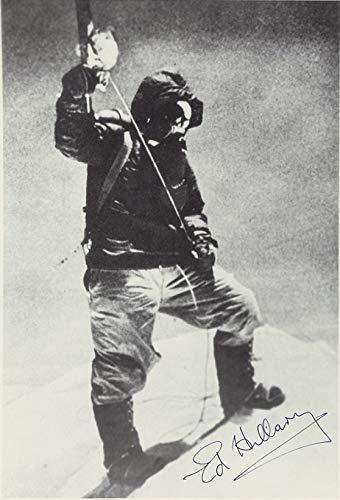 稀少・ オートグラフエベレスト初登頂 エドモント・ヒラリー(Sir Edmund Hillary) 直筆サイン入り白黒写真