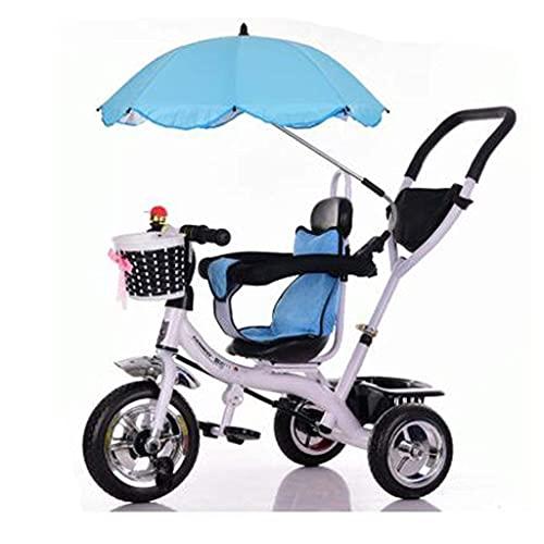 OHHG Bicicleta niños, Triciclo Triciclo Cochecitos bebé Carrito bebé sombrillas Triciclo Carrito bebé Bicicleta Carrito Juguete niños Rueda Inflable Bicicleta 3 Ruedas, Asiento Giratorio Bicicleta