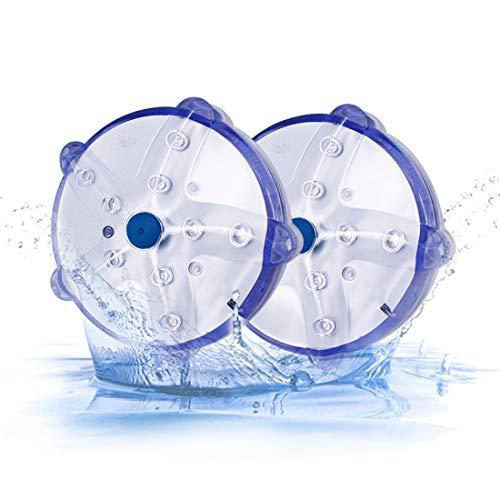 Cootway Schwimmende Teichbeleuchtung Multifarbige RGB Beleuchtung, 100% Wasserdichte Pool LED-lichter, Helle Seestern Lampe Magnetisch für Whirlpool Spa Badezimmer Garten Drinnen Draußen Dekoration
