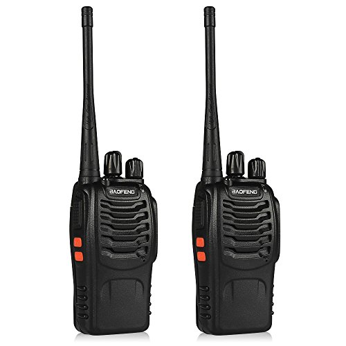 BaoFeng BF-888S Walkie Talkie 2pcs in One Box with Rechargeable Battery Headphone Wall Charger Long...