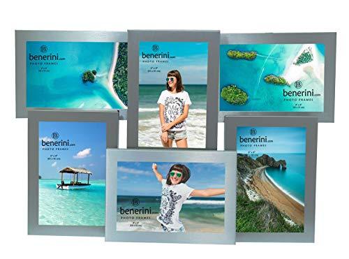 6 Imagen - 4 x 6 Pulgadas Regalo de Marco de Fotos de múltiples Aberturas de Aluminio Satinado Color Plata Satinada - Toma 6 Fotos de 4 x 6 Pulgadas (10 x 15 cm)