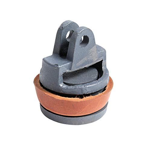 Xclou Ersatzkolben für Schwengelpumpen, Kolben komplett für Wasserpumpen Typ 75, aus Grauguss und Rindsleder, Maße: Ø ca. 8 cm, Höhe ca. 9,3 cm
