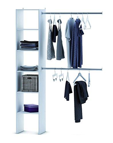 habeig KLEIDERSCHRANK 6735 offen BEGEHBAR Regal Kleiderständer Schrank weiß Garderobe
