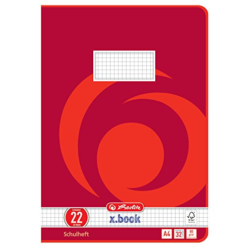 Herlitz 340224 Heft A4, 32 Blatt, Lineatur 22, FSC Mix, 5 Stück