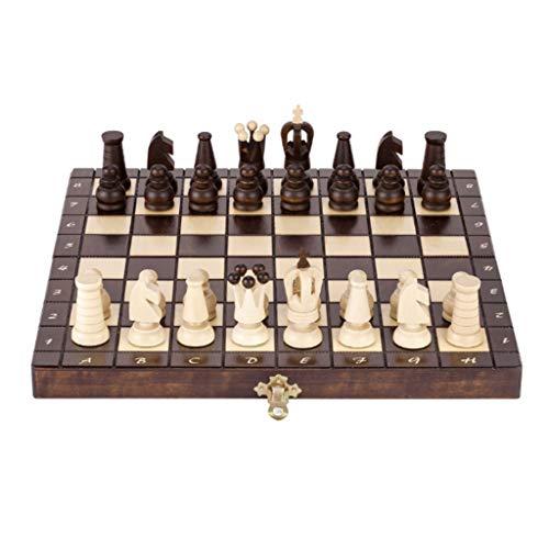 Ajedrez de madera juego de ajedrez portátil juego plegable tablero de ajedrez con pieza de ajedrez ranura de almacenamiento de la gente juguetes educativos de lujo ajedrez