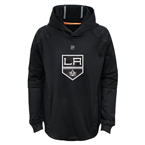 NHL Los Angeles Kings Youth Boys Mach Pullover Hoodie, Large(14-16), Black