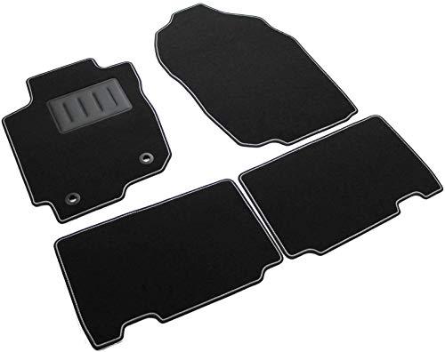 SPRINT04602 Alfombrillas de coche a medida en moqueta antideslizante negra