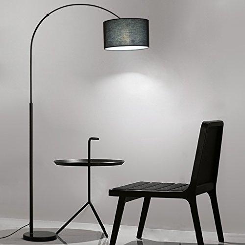 Wvfguj Wandlamp voor binnen Staande Lamp Nordic Staande Lamp Slaapkamer Woonkamer Creative moderne minimalistische Led Bed Lange Arm Fishing Book Floor Lamp (Color : White)